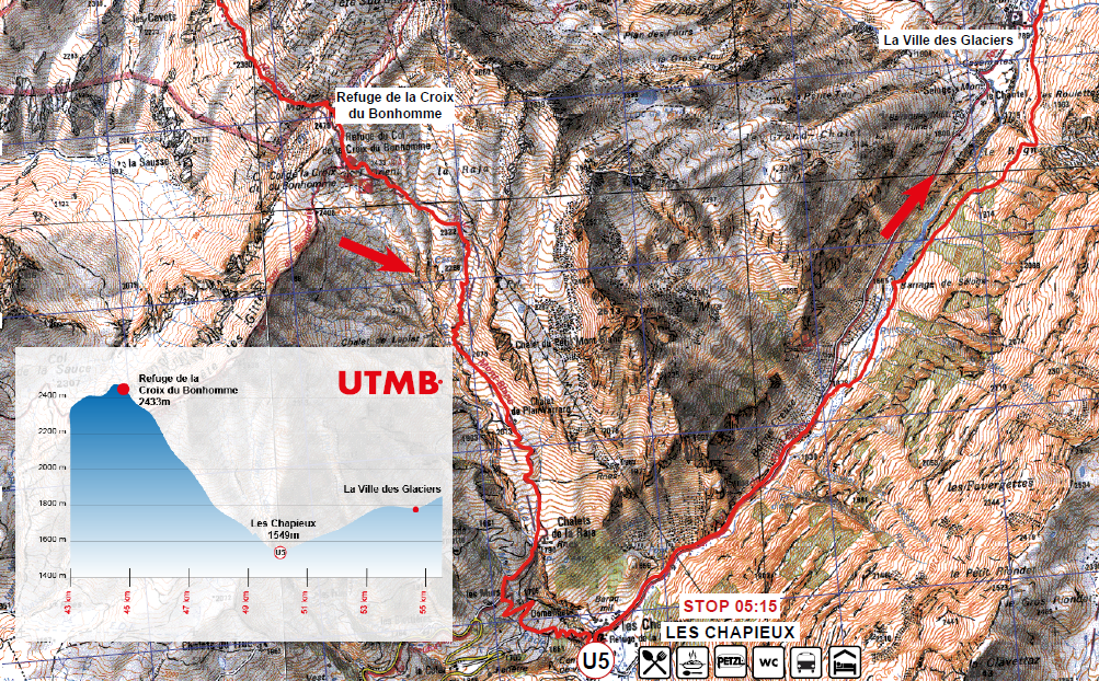 UTMB2018 cartes roadbook
